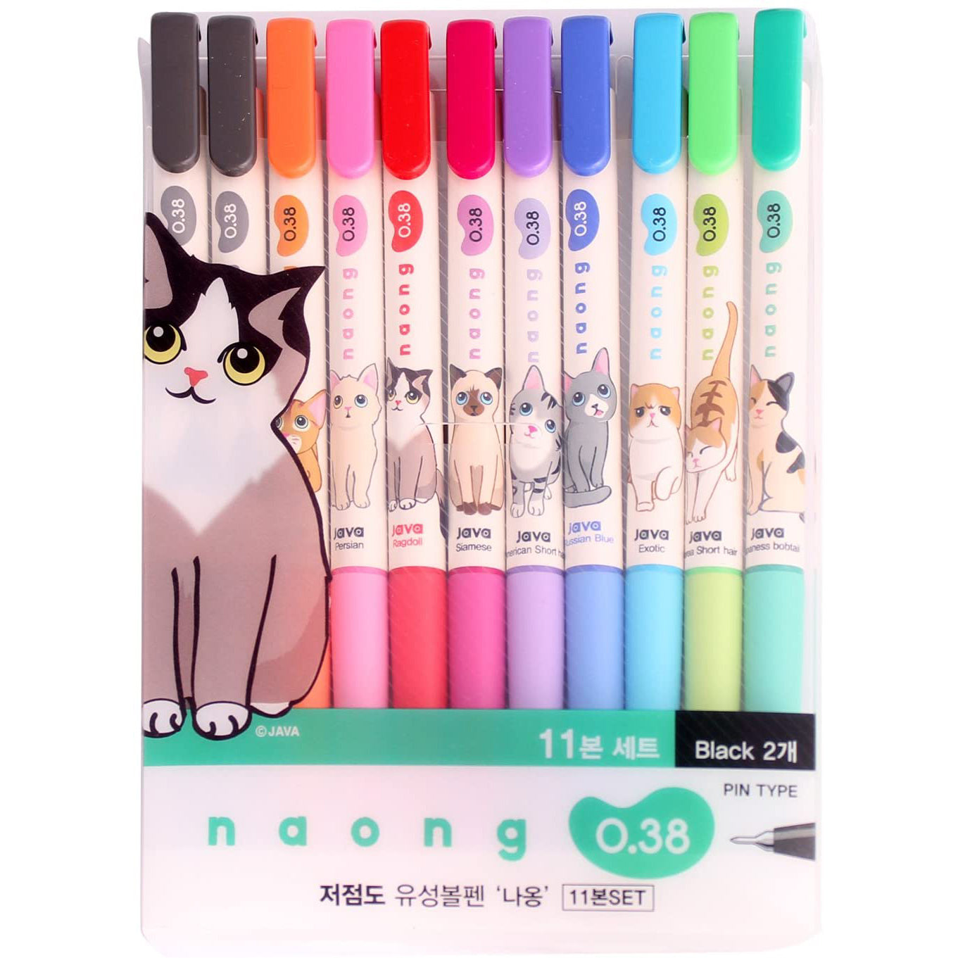 Naong 11-Set Ballpoint Pens, Multicolor 0.38mm
