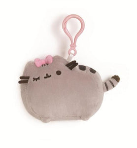 Pusheen Bow Plush Keychain