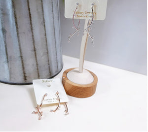 [SILVER MIX] Lemon Earring Rose Gold Color