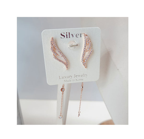 [SILVER MIX] Wings Necklace