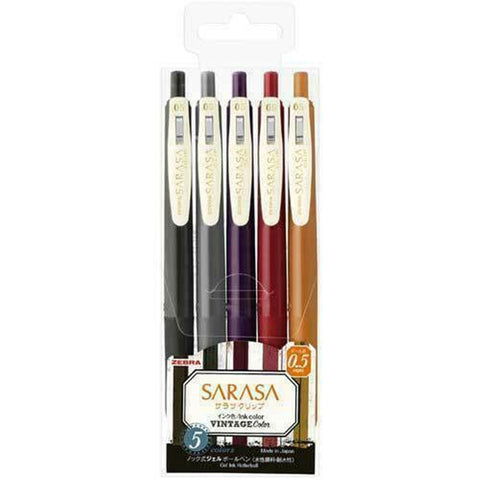 Zebra SARASA Clip Vintage Color #2 Gel Rollerball Pen 0.5mm