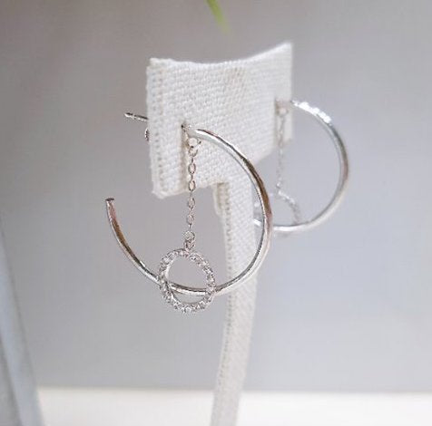 [SILVER MIX] Sonnia Earring Silver Color