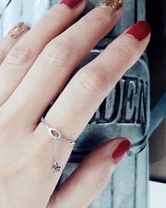 [SILVER92.5] Star Dangling Ring