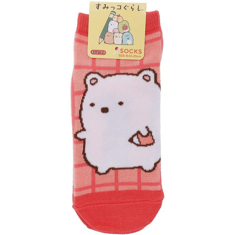 San-X Sumikko Gurashi Women's Socks Polar Bear Studying 22 - 24 cm