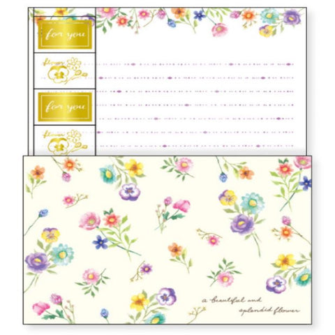 Splendid Flower Twin Letter Set
