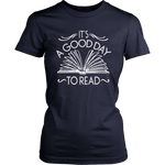 """It's A Good Day To Read""Womens Fitted T-Shirt"