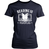 """Reading Is Magical""Womens Fitted T-Shirt"