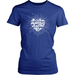 """Heart Of Books""Womens Fitted T-Shirt"