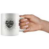 """Heart Of Books"" 11 oz White Ceramic Mug"