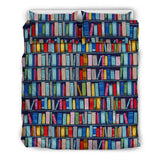 Blue Bookish Pattern bedding