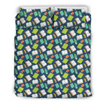 Green Bookish Pattern Bedding
