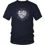 """Heart Of Books""District Unisex Shirt"