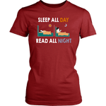 """Read All Night""Womens Fitted T-Shirt"