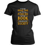 """Forced To Put My Book""Womens Fitted T-Shirt"