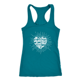 """Heart Of Books"" Racerback Women's Tank Top"