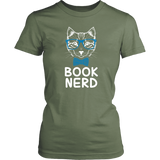"""Book Nerd""Womens Fitted T-Shirt"