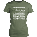 """LIBRARIAN""Christmas District Womens Shirt"