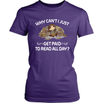 """Get Paid To Read All Day""Womens Fitted T-Shirt"
