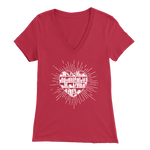 """Heart Of Books"" Womens V-Neck Super Soft T-Shirt"