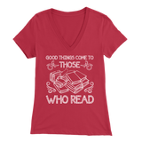"""Those Who Read"" Womens V-Neck Super Soft T-Shirt"