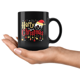 """Harry Christmas""HP Black 11oz Mug"