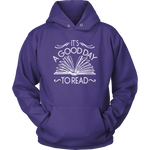 """It's A Good Day To Read""Cozy Unisex Hoodie"