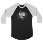 """Heart Of Books"" Unisex Raglan Long Sleeve Shirt"