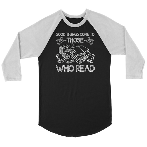 """Those Who Read"" Unisex Raglan Long Sleeve Shirt"