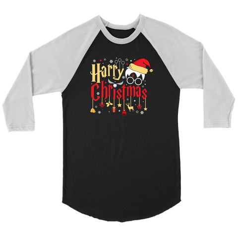 """Harry Christmas""HP Canvas Unisex 3/4 Raglan"