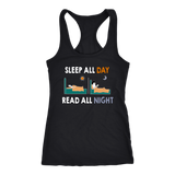 """Read All Night""Racerback Women's Tank Top"