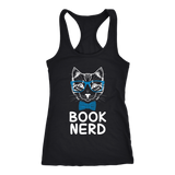 """Book Nerd"" Racerback Women's Tank Top"