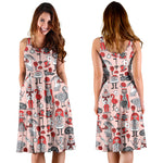Alice In Wonderland midi dress with pockets