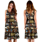Bookish midi dress with pockets