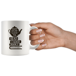 """Read Good Books""11 oz White Ceramic Mug"