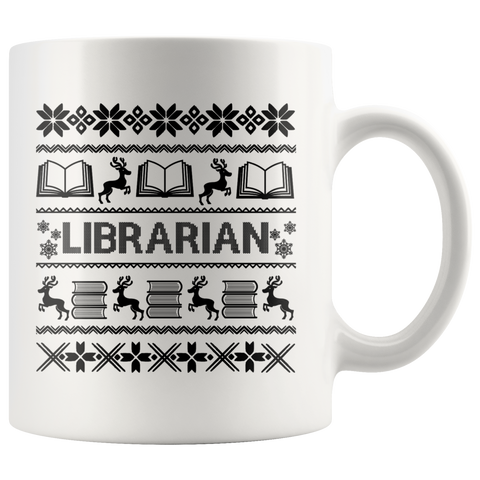 """LIBRARIAN""Christmas White 11oz Mug"