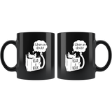 """When In Doubt""11 oz Black Ceramic Mug"