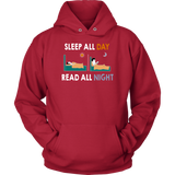 """Read All Night""Cozy Unisex Hoodie"