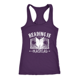"""Reading Is Magical"" Racerback Women's Tank Top"