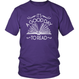 """It's A Good Day To Read""District Unisex Shirt"