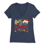 """Harry Christmas""HP Bella Womens V-Neck"