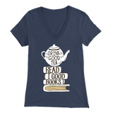 """Read Good Books"" Womens V-Neck Super Soft T-Shirt"