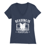 """Reading Is Magical"" Womens V-Neck Super Soft T-Shirt"