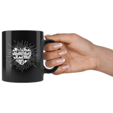 """Heart Of Books"" 11 oz Black Ceramic Mug"