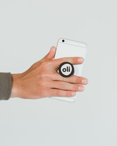 Black Logo Pop Socket