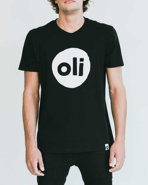 Large Print Logo Black Unisex T-Shirt