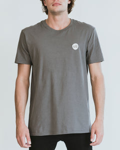 Embroidered Logo Grey Unisex T-Shirt