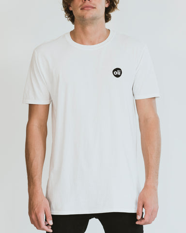 Embroidered Logo White Unisex T-Shirt