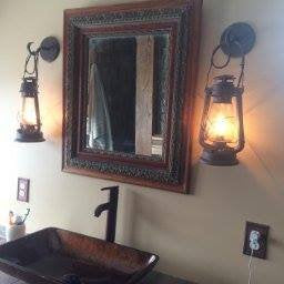 Large Lantern wall sconce