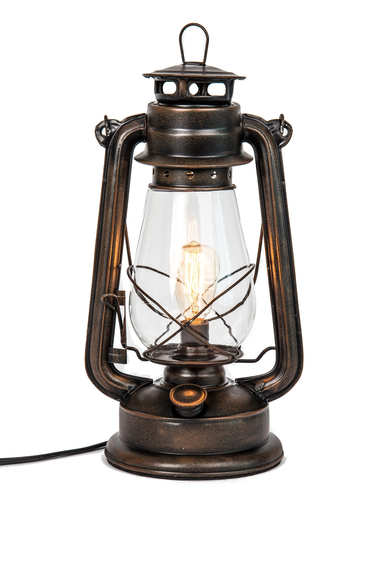 Electric Oil Lantern table lamp with inline dimmer on plug ...
