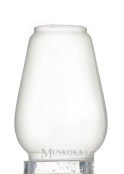 Large Hurricane Glass Frosted MUS123